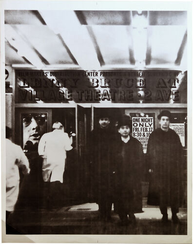 George Maciunas, 'Film Makers' Distribution Center Presents A Benefit Screening Lenny Bruce at Village Theatre, 2 Ave', 1967