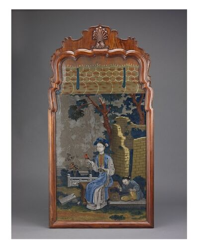 Unknown Artist, 'Framed Reverse Painting on Glass', 19th century