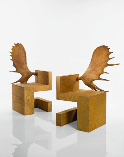 Rick Owens, 'Pair of StagChairs', 2007
