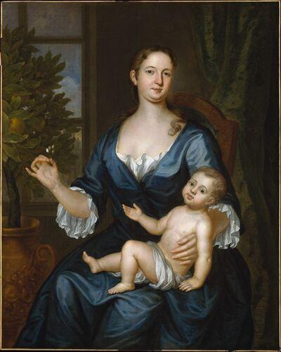 John Smibert, 'Mrs. Francis Brinley and Her Son Francis', 1729