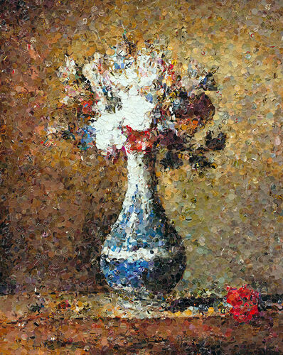 Vik Muniz, 'Flowers in Blue and White Vase, after Chardin', 2005