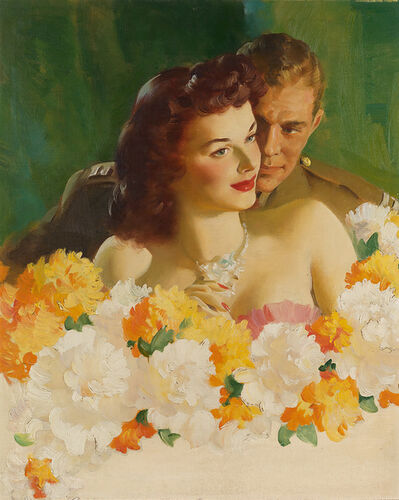 Haddon Sundblom, 'Cashmere Bouquet Soap Advertisement', 1945