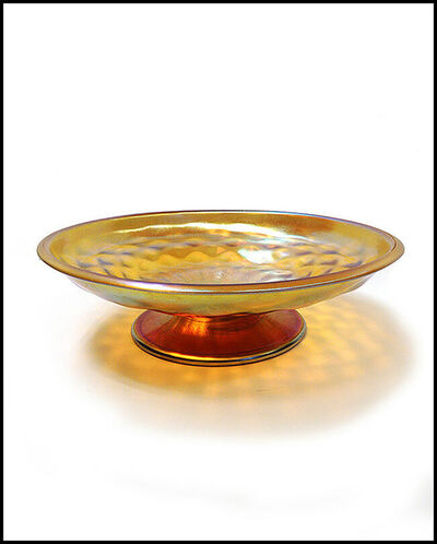Louis Comfort Tiffany, 'Louis Comfort Tiffany Favrile Glass Gold Compote ', 20th Century