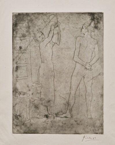 Pablo Picasso, 'La Famille de Saltimbanques au Macaque', 1905