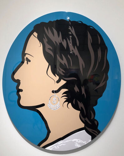 Julian Opie, 'Ludivine, Writer, Profile Left', 2007