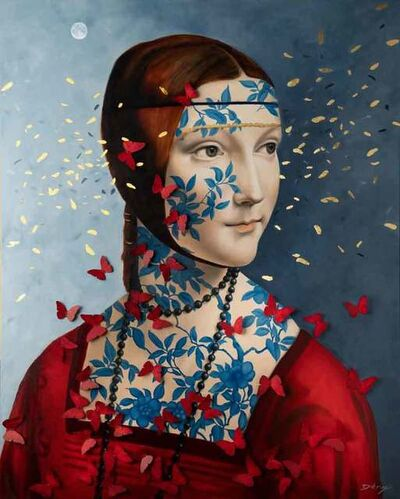 Serge Déry, 'Lady Cecilia with butterflies', 2019