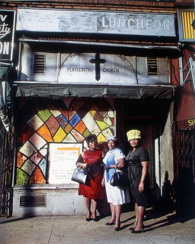 Evelyn Hofer, 'Harlem Church- New York', 1964