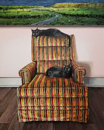 Joey Wolf, 'Cats on Sabas chair', 2019