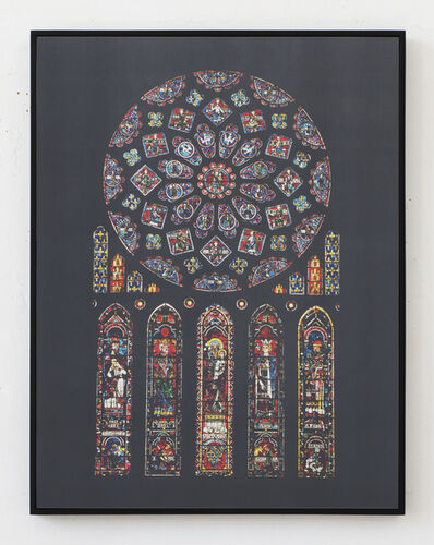 Laurence Aëgerter, 'Cathédrales Hermétiques – vitraux, Cathedral of Our Lady of Chartres III, 13th century', 2016