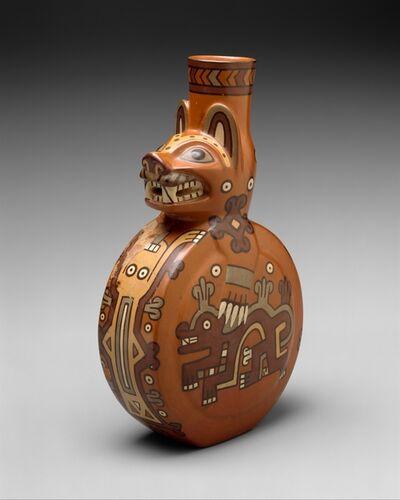 Unknown Wari, 'Feline Bottle', 8th–10th century