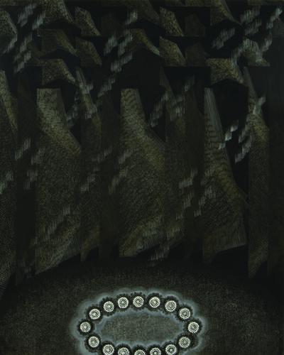 "Michiko Itatani, '""Personal Codes"" Painting from Moon-light/Mooring MM-2', 2009"
