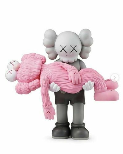 KAWS, 'GONE COMPANION GREY AND BFF PINK', 2019