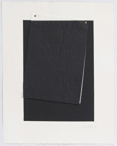 Liliana Porter, 'Black VIII (wrinkle)', 1971