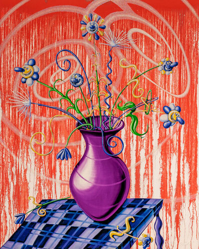 Kenny Scharf, 'Flores Red', 2020