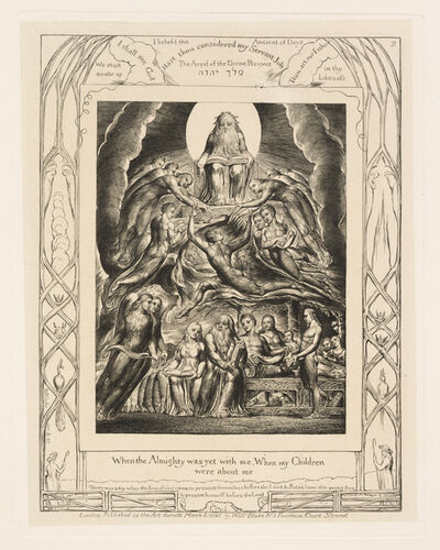 William Blake, 'Satan before the Throne of God', 1825