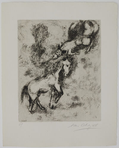 Marc Chagall, 'The Horse and the Donkey', 1927-1930