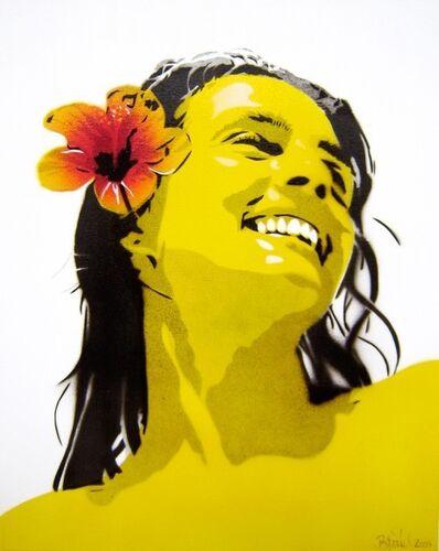 Bananensprayer Thomas Baumgärtel, 'Kerstin', 2003