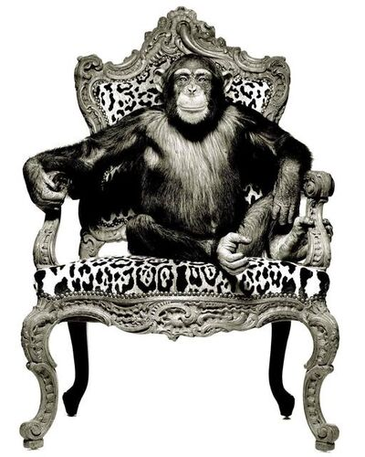 Albert Watson, 'Casey on his Leopard Print Throne', 1992