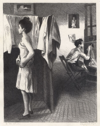 Raphael Soyer, 'My Studio or In the Studio', 1944