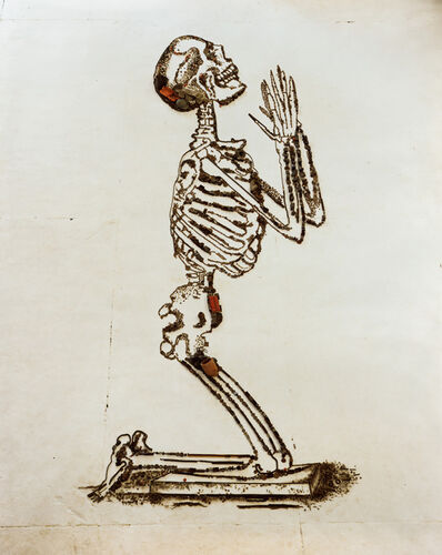 Vik Muniz, 'Praying (The Anatomy of Bones), after William Cheselden (Pictures of Junk)', 2009