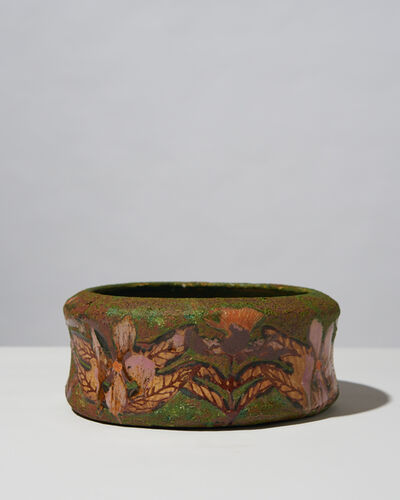 Henri-Leon-Charles Robalbhen, 'Floral Frieze Bowl', ca. 1900