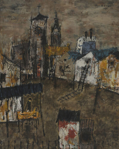 Kei HIRAGA, 'Scenery with Ladders', 1957