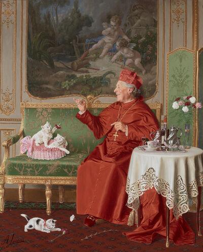 Andrea Landini, 'His Favorites', Late 19th Century