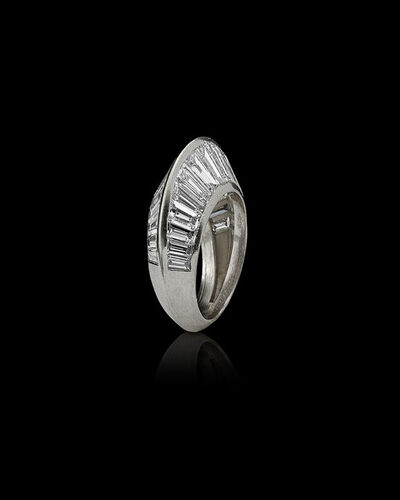 """Suzanne Belperron for Boivin, 'Platinum and diamond """"Crête""""ring', 1932"""