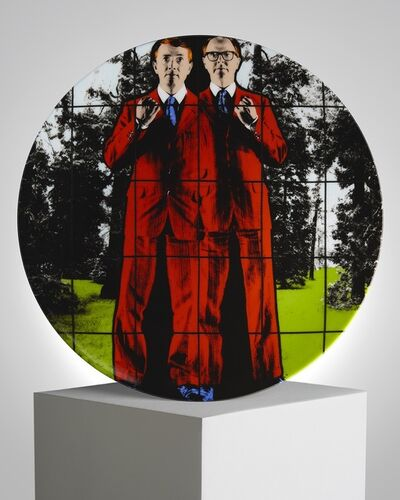 "Gilbert and George, '""One"" Porcelain Plate', ca. 2019"