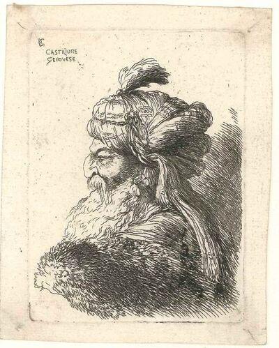 Giovanni Benedetto Castiglione, 'Men with Turban', Late 17th Century