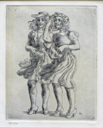 Reginald Marsh, 'Two Girls in the Wind', 1938-1969