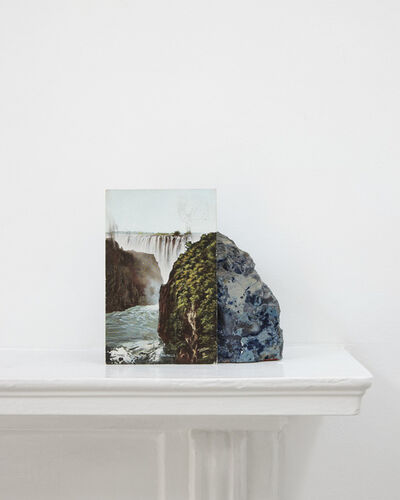 Stuart Whipps, 'A postcard of Victoria Falls. A geological sample from John Latham's mantlepiece', 2012