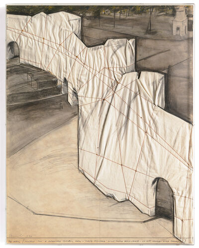 Christo, 'The Wall / Project for a Wrapped Roman Wall', 1974