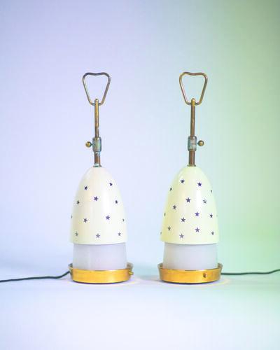 Angelo Lelli, 'Pair of table lamps (Stelline)', vers 1950