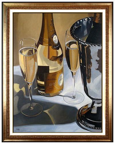 Thomas Stiltz, 'Thomas Stiltz Large Oil On Canvas Painting Signed Wine Champagne Signed Artwork', 20th Century