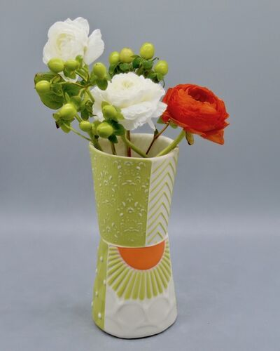Kelly Justice, '10.Chartreuse Bud Vase with Orange Accents', 2021