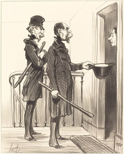 Honoré Daumier, 'La Souscription Napoléonienne', 1851
