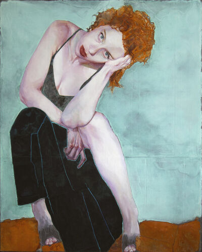 Piet van den Boog, 'Girl with Red Hair (After Schiele I)', 2020