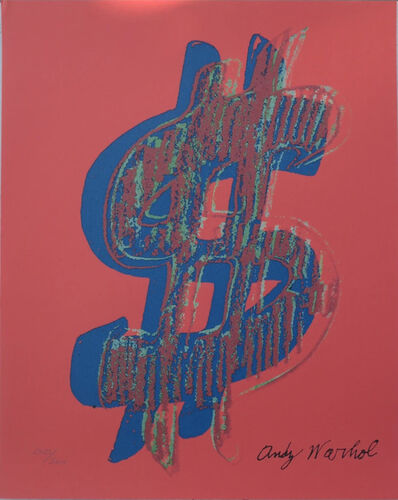 Andy Warhol, 'Dollar Sign $, Red', 1986