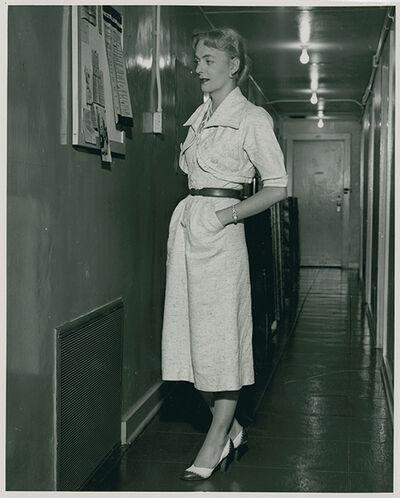 William Dellenback, 'Christine Jorgensen visiting the Institute for Sex Research, Indiana University, Bloomington, IN, 1953', 1953