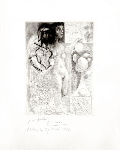Pablo Picasso, 'Muse montrant à Marie-Thérèse pensive son Portrait sculpté', 1933