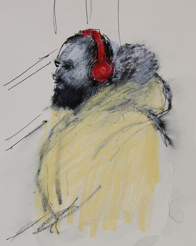 Patrick Jewell, 'Red Heaphones, Yellow Parka', 2017