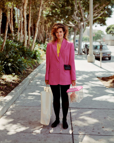 Joel Sternfeld, 'A Woman Out Shopping with Her Pet Rabbit, Santa Monica, California, August 1988', 1988