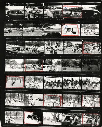 Robert Frank, 'Contact Sheet #76 (Belle Isle, Detroit, Michigan)', 2009