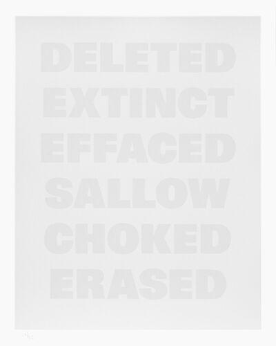 Remy Zaugg, 'Untitled (F)', 1986-1994