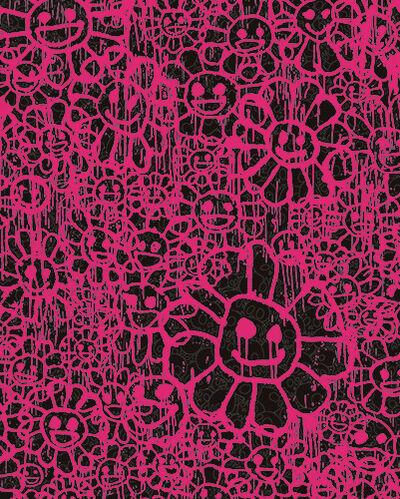 Takashi Murakami, 'Madsaki Flowers B Pink', 2017