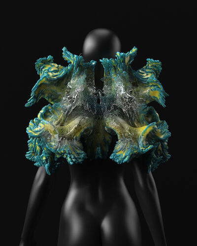 Neri Oxman, 'Rendering, back view of Otaared, from Wanderers collection', 2014