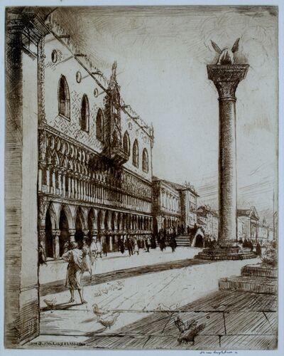 Donald Shaw MacLaughlan, 'Sunlit Facades, Venice', 1922