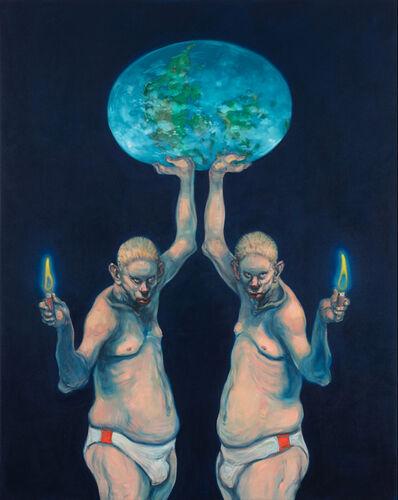 Michael Kvium, 'Enlightening Brothers ', 2019