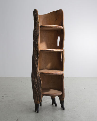 "Babacar Niang, 'Sculptural ""Khamb (Thunder Cabinet)"" Carved Shelf ', 2014"
